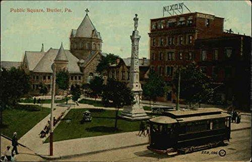 Square Butler (Public Square Butler, Pennsylvania Original Vintage Postcard)