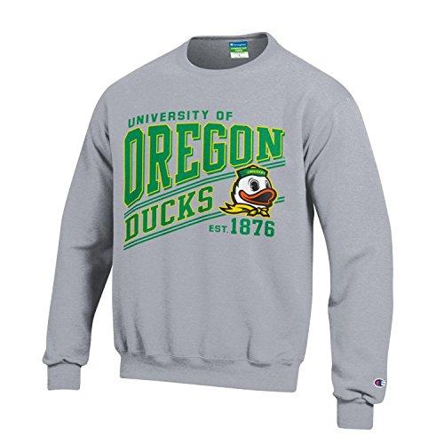 Champion NCAA Oregon Ducks Youth Boys Fleece Crew, Large, ()