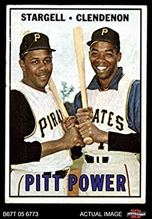 Amazoncom 1967 Topps 266 Pitt Power Willie Stargelldonn