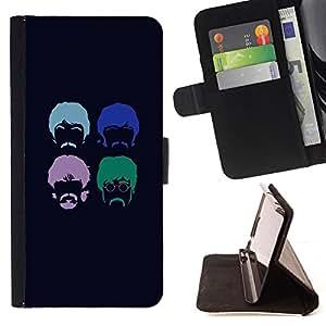 BullDog Case - FOR/Sony Xperia Z1 Compact D5503 / - / The Beatls /- Monedero de cuero de la PU Llevar cubierta de la caja con el ID Credit Card Slots Flip funda de cuer