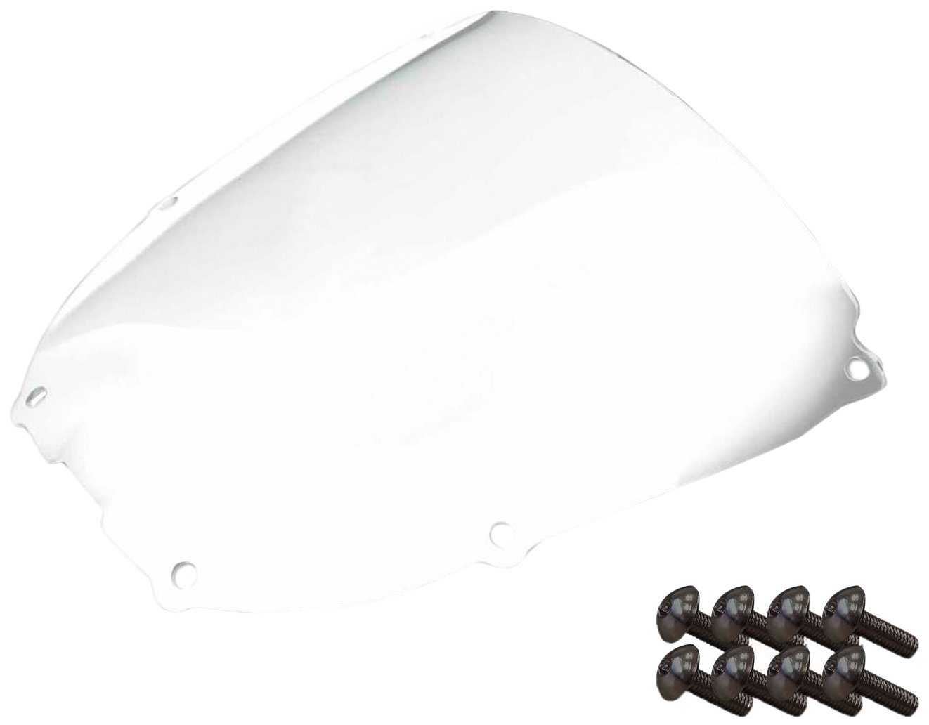 Sportbike Windscreens ADHW-107C Clear Windscreen (Honda Rc51 (01-06) with Silver Screw Kit), 2 Pack