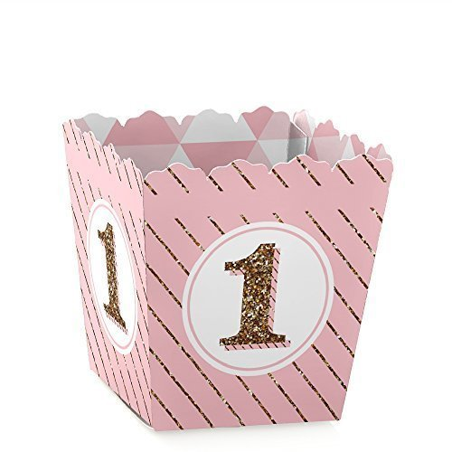 1st Birthday Girl - Fun to be One - Candy Boxes Party Favors (Set of 12) (Party Treat Boxes)