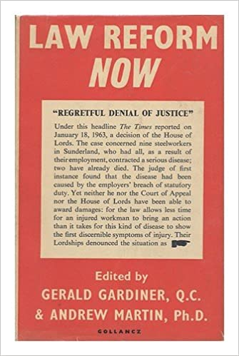 Law Reform Now / Edited by Gerald Gardiner and Andrew Martin