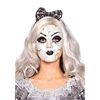 Accesorio para disfraz de máscara para muñeca Leg Avenue para mujer, blanco, talla única