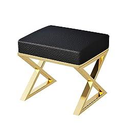 LPYMX Fashion Soft Bag Chair, Makeup Stool Sofa Bench