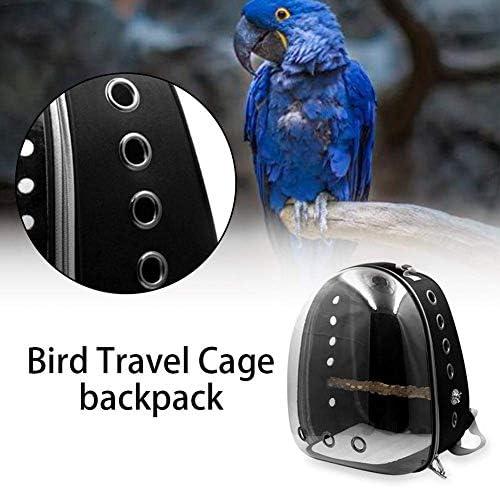 Dunkelblau ExcLent Haustier Papagei Rucksack Tr/äger Easy Carry Steht Aus Holz Vogel Reisetasche K/äfig Nest