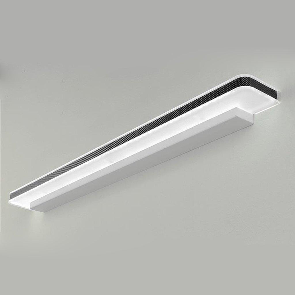 Führte Spiegelfrontlicht Badezimmerbadezimmer Toilettendekoration moderner wasserdichter Nebel Freie lochende Wandlampe (Farbe   Warm Light-12w 50cm)