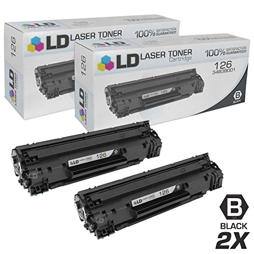 LD © Compatible Replacements for Canon 3483B001 (126) Set of 2 Black Laser Toner Cartridges for use in Canon ImageClass LBP6200d, and LBP6230dw Printers