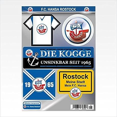 Fc Hansa Rostock Aufkleberkarte Amazon Co Uk Computers Accessories