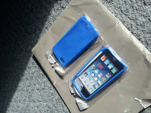 EMPIRE New Apple iPhone 5 / 5G Silicone Skin Case Tasche Hülle Cover, Light Blau