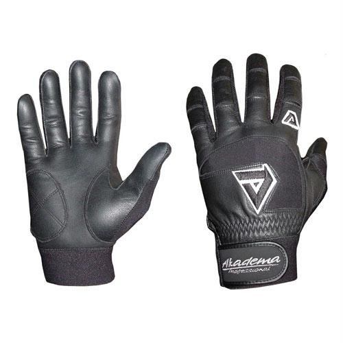 Akadema Youth Batting Gloves (Black, Medium)