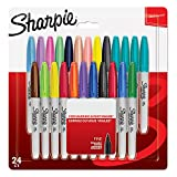 Sharpie Permanent Markers, Fine Tip Pack of 24