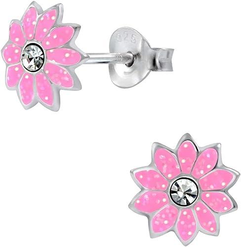 925 Sterling Silver Flower Stud Earrings