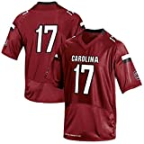 NCAA Men's #17 South Carolina Gamecocks Under Armour College Football Jersey Garnet White M
