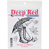 DEEP RED CLING STAMP-GALOSHES