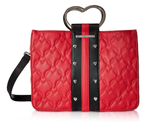 Betsey Johnson Women's Heart Handle Satchel Red One Size (Betsey Johnson Handbags Red)