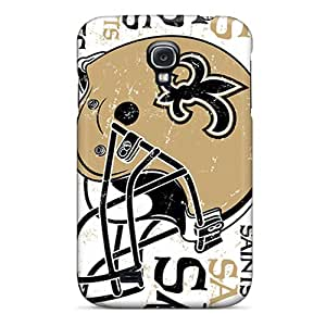 LisaSwinburnson Samsung Galaxy S4 Perfect Hard Cell-phone Cases Unique Design HD New Orleans Saints Image [ugT3260ChJB]