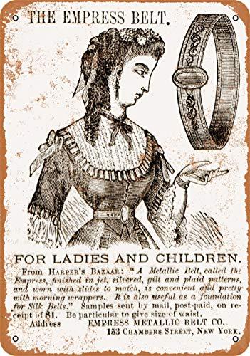Wall-Color 10 x 14 Metal Sign - 1870 Empress Metallic Belt - Vintage Look