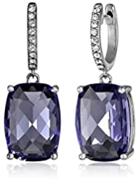 Sterling Silver Swarovski Clear Crystal Dangle Earrings