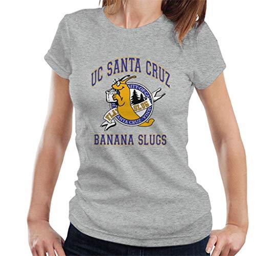 MOUNTS Santa Cruz Banana Slugs California Women's T-Shirt Heather Grey (Best Margaritas In Santa Cruz)