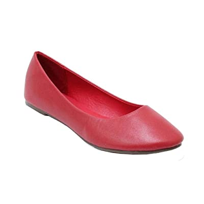 Womens Classic Round Toe Slip on Flat Ballet Dress Comfortable Low Heel Shoes Muse | Flats