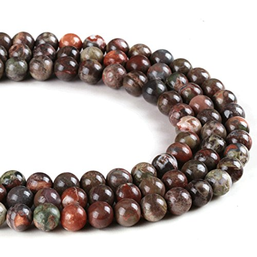 JARTC Natural Stone Beads Ocean Agate Round Loose Beads for Jewelry Making DIY Bracelet Necklace (6mm)