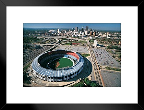 - Poster Foundry Atlanta Fulton County Stadium Atlanta Georgia Skyline Aerial Photo Art Print Matted Framed Wall Art 26x20 inch
