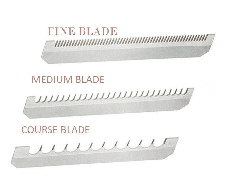 Benriner MBN188110.226.332V Replacement Blade For Mandoline Slicer, 4-1/8 (Length) X 3/4'' (Wide), Set of 3 Kinds (Fine, Medium and Coarse)