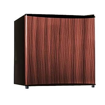Midea WHS-65LWD1 Compact Single Reversible Door Refrigerator, 1.6 Cubic Feet, Wood Like Finish