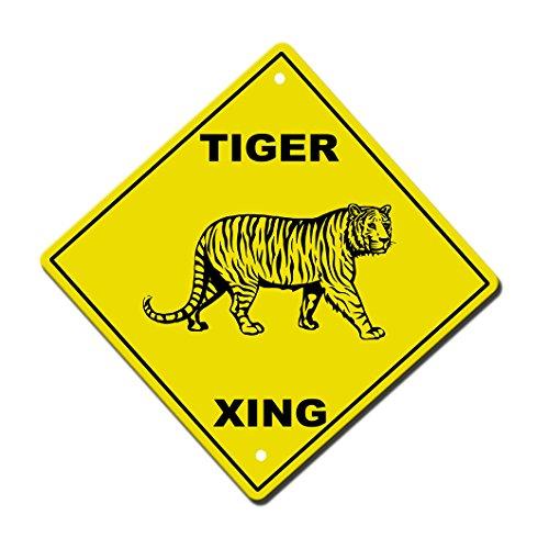 - Aluminum Cross Sign Tiger Crossing Metal Wall Decor - 12
