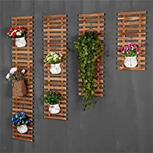 AIDELAI Solid wood On the wall Flower racks European style balcony living room Wall hanging Plant shelves hanging wall Flower pot rack (Not 4 pcs, just 1 pcs) Patio Garden Pergolas ( Size : 30*60cm )