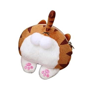 2b97c354c0b Cute Cat Butt Tail Plush Coin Purse Lightweight Clutch Handbags For Teen  Girls