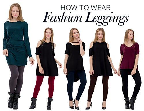 6 Pack Women's Fleece Lined Leggings Soft High Waist Slimming Winter Warm Leggings