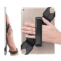 """JOYLINK Soporte universal para la correa de la mano de la tableta, empuñadura giratoria de 360 grados con empuñadura de cuero con cinturón elástico, seguro y portátil para todas las tabletas de 10.1 """"(Samsung Asus Acer, iPad de Google Lenovo, etc.),"""