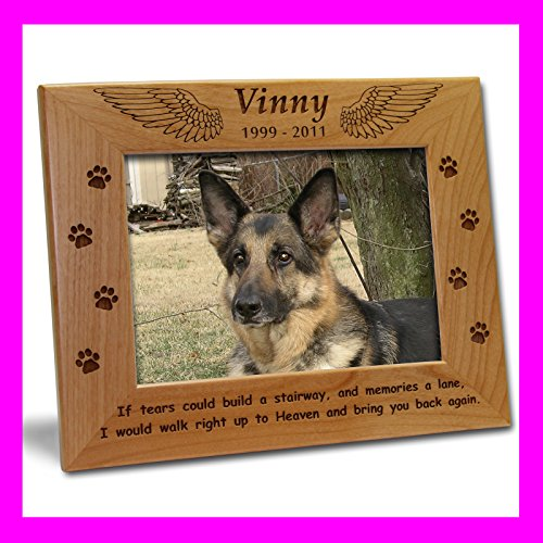 Personalized Pet Picture Frame Engraved Dog Cat Photo