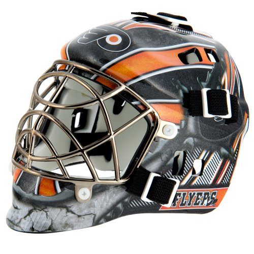 League Logo Philadelphia Flyers Mini Goalie Mask (Flyers Mini Hockey Helmet)