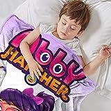 Cunningham A-Bb-y H-at-ch-e Cartoon Girl Blanket