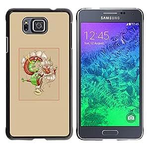 Caucho caso de Shell duro de la cubierta de accesorios de protección BY RAYDREAMMM - Samsung ALPHA G850 - Asian Dream Dragón