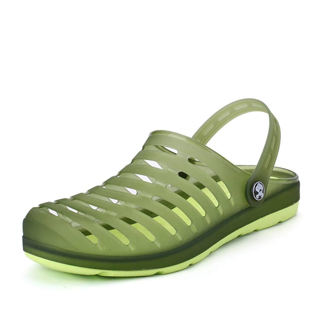 Men Garden Clogs Outdoor Walking Sandals Breathable Sport Slides Summer Non Slip Pool Beach Shower Slippers Shoes Army Green 275mm:11 D(M) US Men
