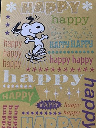 SNOOPY PEANUTS HAPPY HAPPY HAPPY HAPPY BIRTHDAY