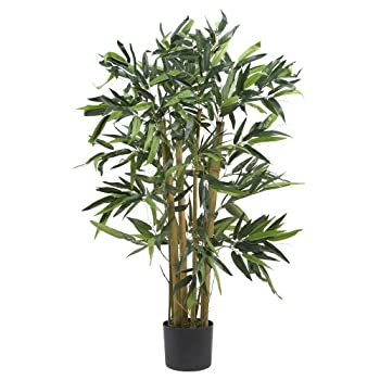 Nearly Natural 5281 Biggie Bamboo Silk Tree, 3-Feet, Green