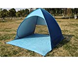 Xcellent Global Automatic Pop Up Instant Portable Foldable Beach Tent Cabana Sun Shade Shelter Canopy, Blue SP038L