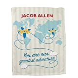 GiftsForYouNow Greatest Adventure Personalized Fleece Blanket for Boys