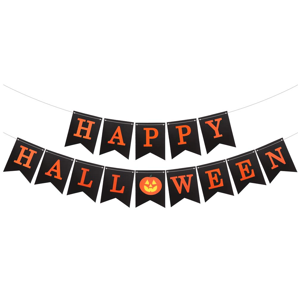 CCINEE 34pcs Halloween Garland Kits Tissue Paper Party Banners Set with Latex Balloons for Halloween Party Decoration