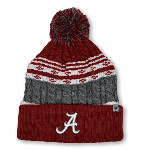 Top of the World Alabama Crimson Tide Men's Winter Knit Hat Icon, Crimson, One Fit (Alabama Beanie Hat)