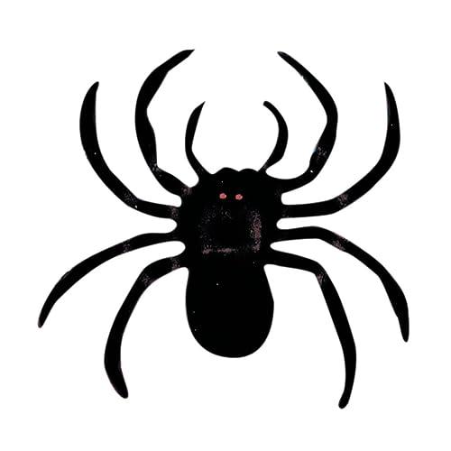 NET TOYS Décoration araignée poilue animal 10 cm - set de 2 Fête d'Halloween horreur arachnide de déco d'Halloween soirée costumée décoration d'ambiance araignée g&eacute