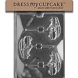Dress My Cupcake Chocolate Candy Mold, School Bus Lollipop, Set of 6