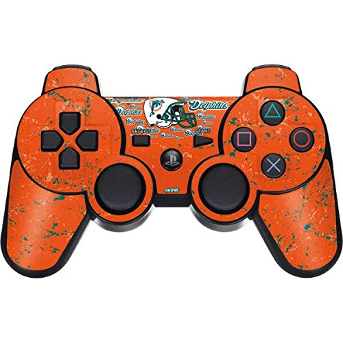 (Skinit Miami Dolphins - Blast PS3 Dual Shock Wireless Controller Skin - Officially Licensed NFL Gaming Decal - Ultra Thin, Lightweight Vinyl Decal Protection)