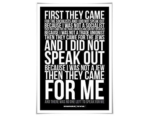 First They Came, Then They Came For Me Art Print Art Print. 60 Colours/4 Sizes. Martin Niemöller. Holocaust Poem Immigrants (No One Left To Speak For Me)