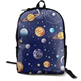 Zx7CAp3 Navy Planets Solar System Boys Girls Popular Printing Toddler Laptop Backpack Travel Computer Backpack School Book Backpack